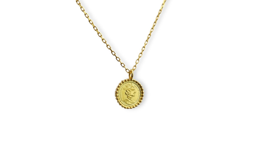 Coin Gold Plated Silver Necklace