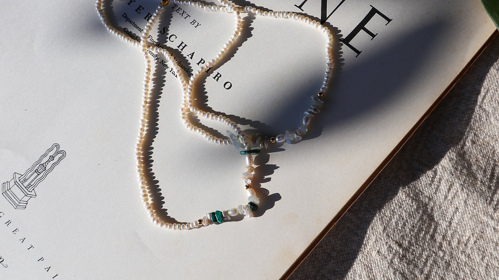 Garden Pearl Silver Necklace