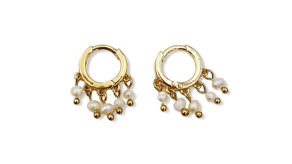 Gypso Pearl Mini Hoop Earrings