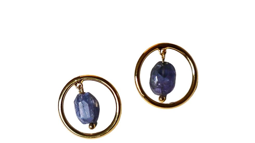 BGPT05/06 Peach Earrings - Tanzanite