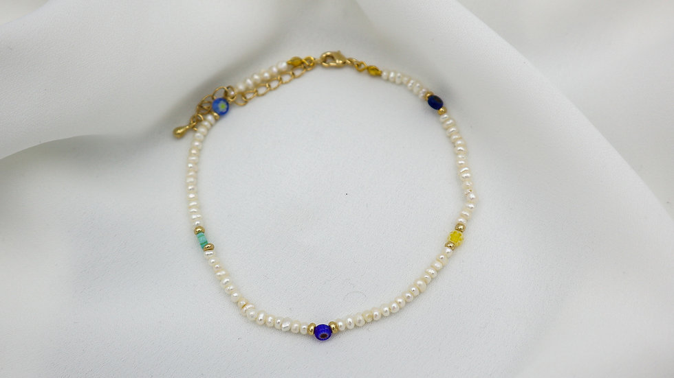 Seed Color Pearl Anklet
