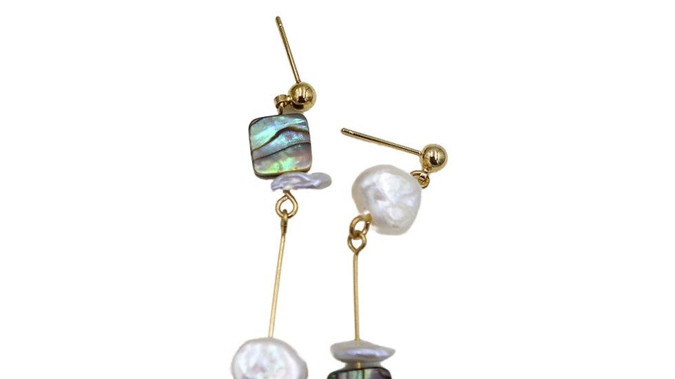 Hoinn Paua Shell Earrings