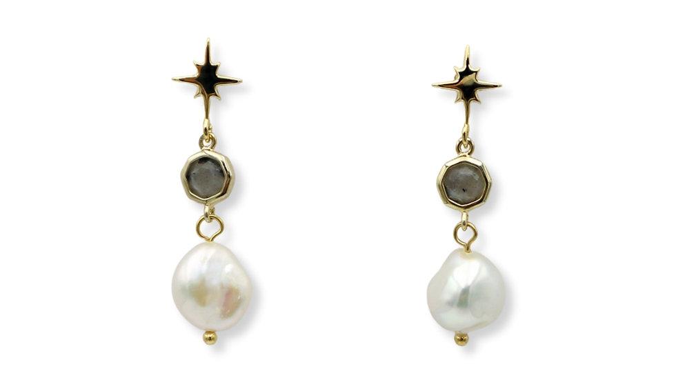 Stardust Labradorite Drop Earrings