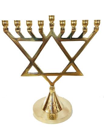 Star of David Chanukah Menorah (large)