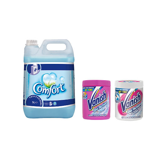 142x Washes of Comfort Concentrate Blue Skies (1*5l) + 2Kg Vanish Pink and White