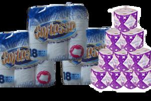 54 x Softesse Toilet rolls and 24 Kitchen Rolls