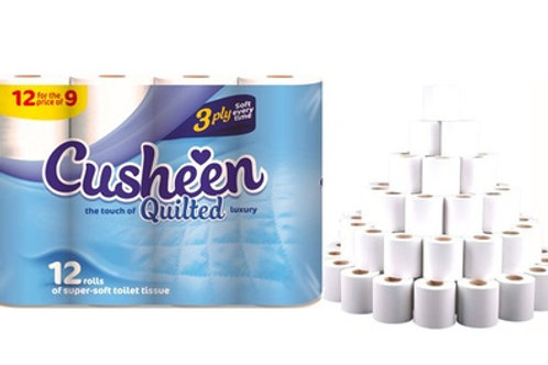 60 CUSHEEN WHITE TOILET ROLLS