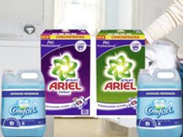 ARIEL 105 wash with COMFORT Fabric Conditioner Original 5L