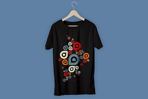 T-Shirt Homme P'tite Maiz gris rouge