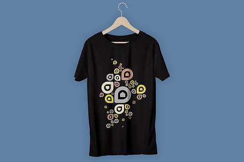T-Shirt Homme P'tite Maiz gris jaune