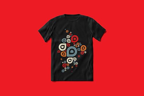 T-Shirt Femme P'tite Maiz gris rouge