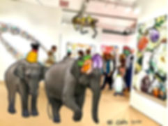 Animals_Invade_the_Artworld_—_Elephant