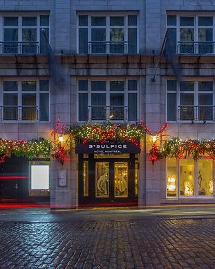 Façade Hôtel St-Sulpice Nuit
