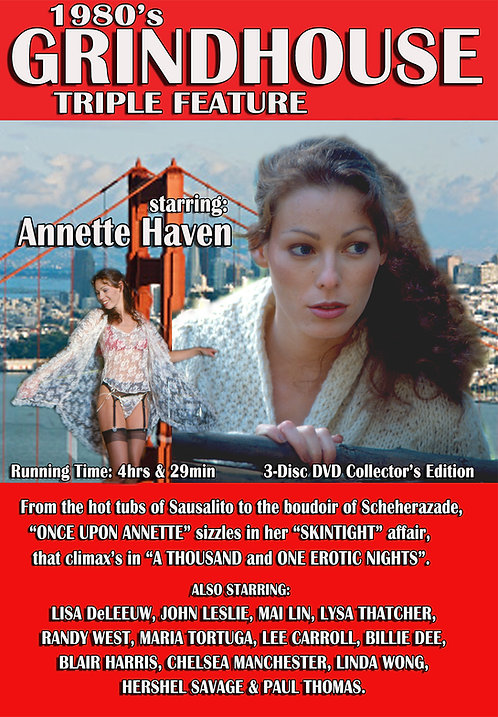 Annette Haven in 1980's GRINDHOUSE TRIPLE FEATURE