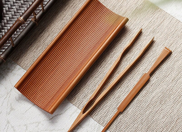 Handmade Bamboo Three-Piece Tea Needle Tea Spoon