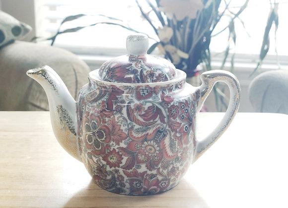 Vintage Miniature Royal Paisley Teapot