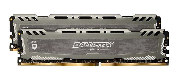 Crucial Ballistix Sport LT Gray 16GB DDR4 3000Mhz