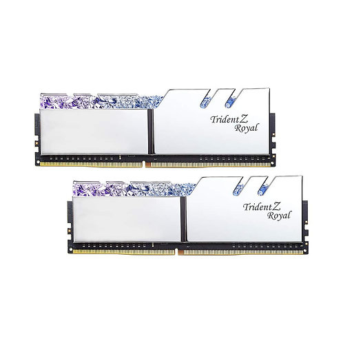 GSKILL Trident Z Royal Plata RGB 16GB DDR4 3000MHZ