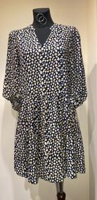 YE - Kleid Tupfen (schwarz)
