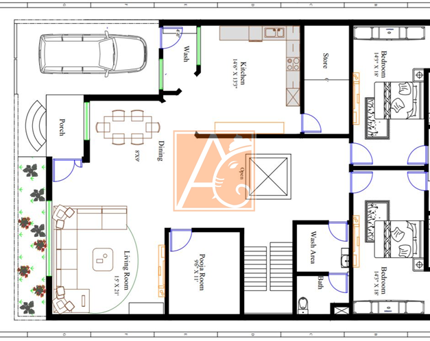 Planning for 40'*60'