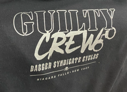 Mens T-shirt Guilty Crew in Black