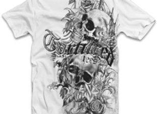 Tortured Double Skull and Roses