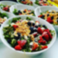 Arugula Strawberry and Blueberry Salad