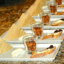 Bread, Cheese and Nut Appetizer
