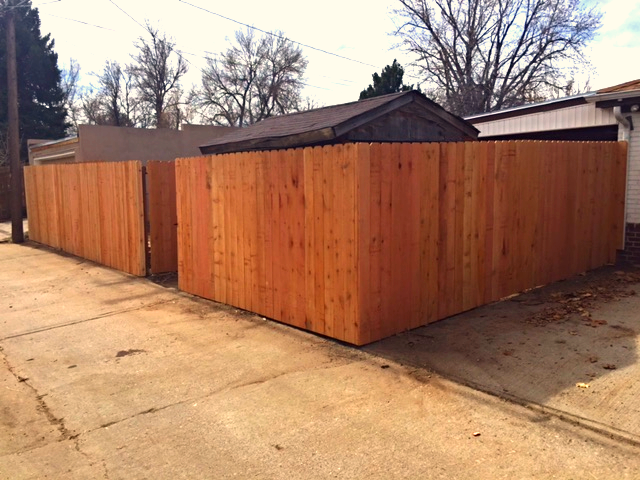 6ft Privacy Fence-Wide Style