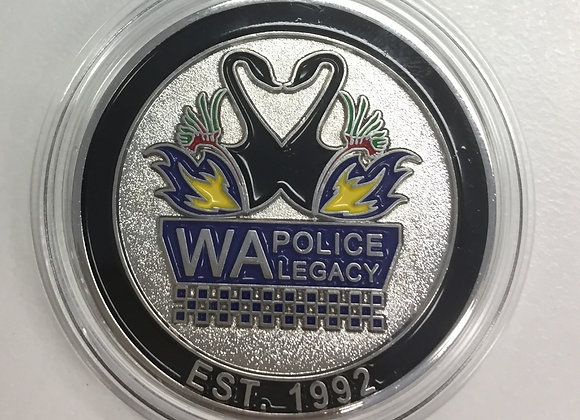 Silver WA Police Legacy Challenge Coin
