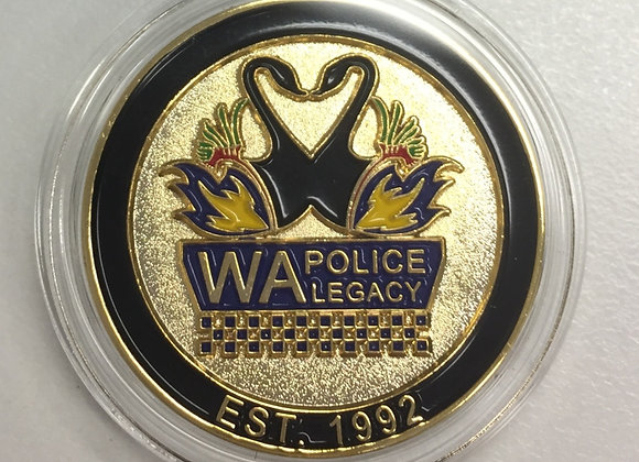 Gold WA Police Legacy Challenge Coin