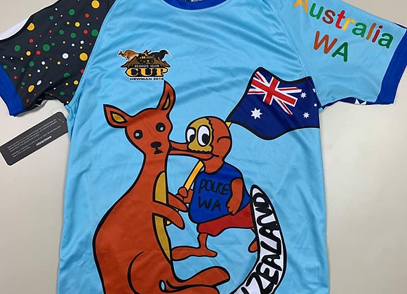 BSC 2019 Blue Kangaroo and Kiwi Shirt