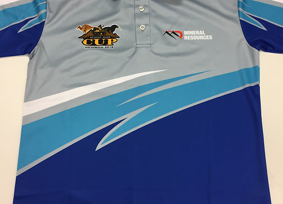 BSC 2019 Blue and Grey Polo Shirt