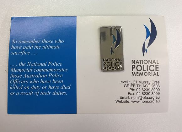 National Police Memorial Tie Pin