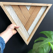This L O V E L Y geometric piece of my heart was hand crafted by the amazing _apartch with salvaged wood and is available for $28 and can be