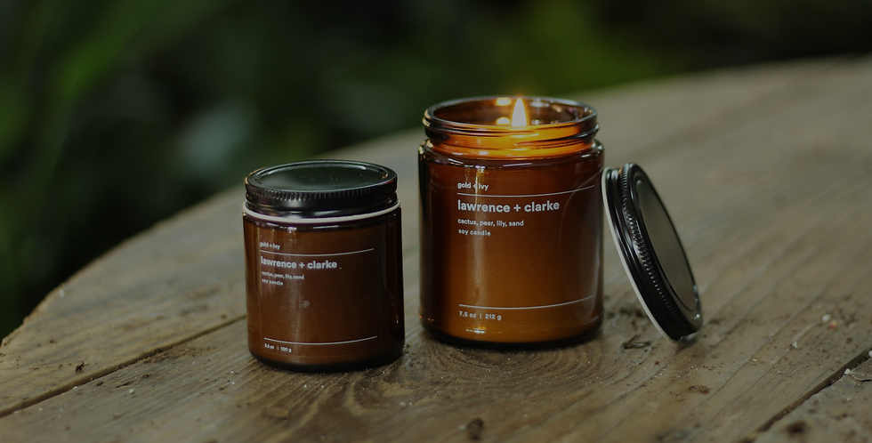 4oz Lawrence & Clarke Candle by Gold & Ivy