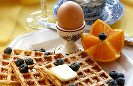 Sumptious breakfasts at Charred Oaks Inn Bed and Breakfast close to Frankfort, KY