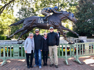 CHARRED OAKS INN GUESTS CHECK OUT NEW SECRETARIAT MONUMENT