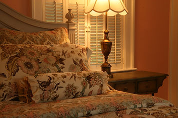 Deluxe two room king suite with garden view and fireplace at upscale Lexington KY inn bed & breakfast