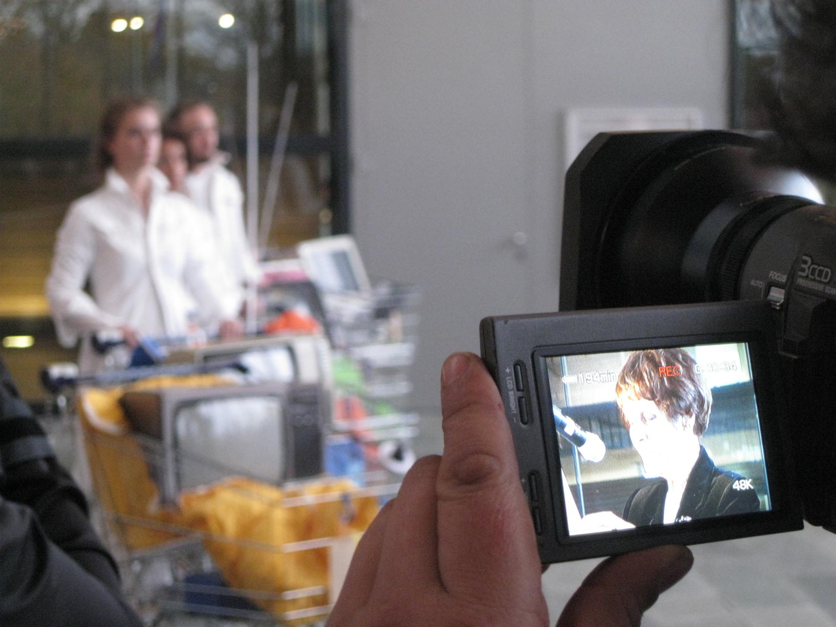 camera, mies, students