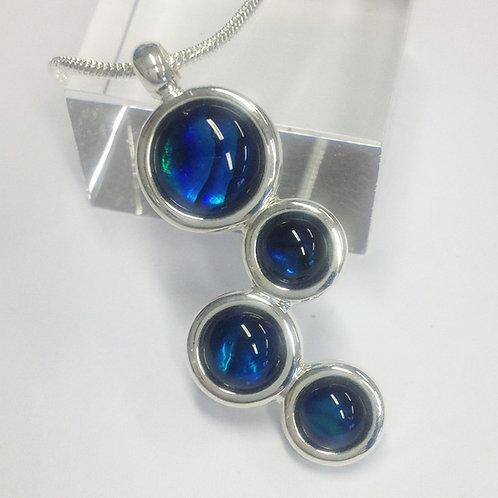 Blue Abalone Louisa Silver Pendant & Chain