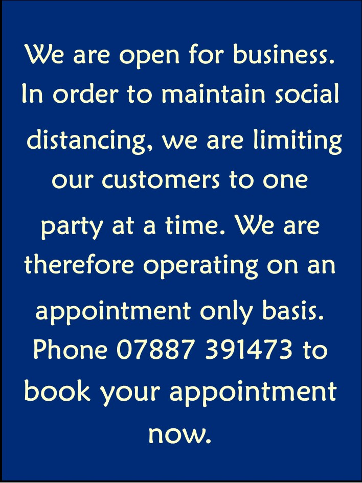 covid appointment only