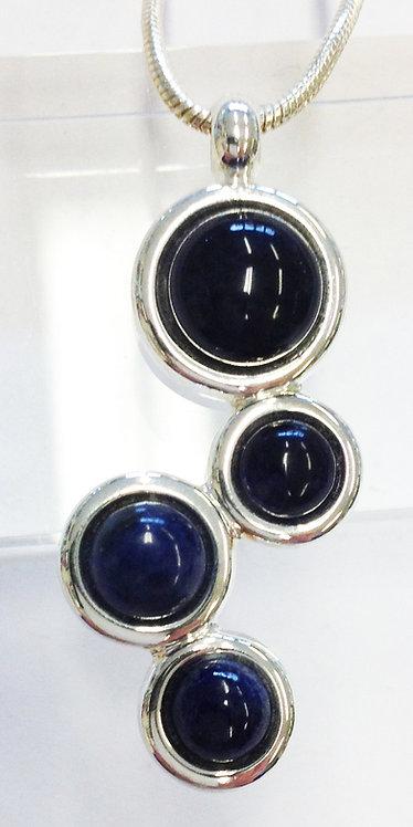Sodalite Damara Silver Pendant & Chain