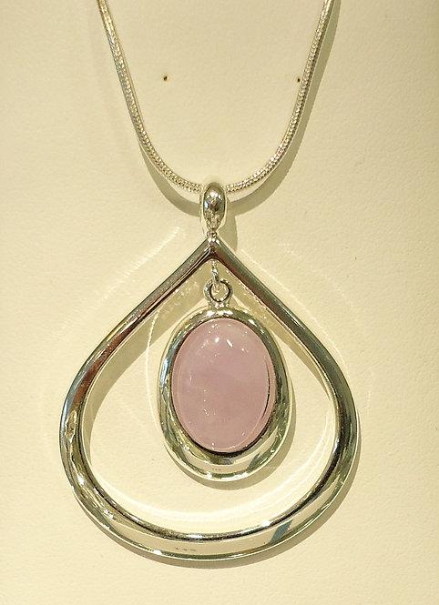 Amethyst Damara Silver Pendant & Chain