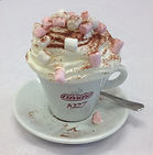 Luxury Hot Chocolate with Marshmallows, Whipped Cream & a Dusting of Chocolate Powder