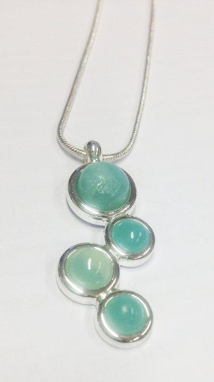 Amazonite Damara Silver Pendant & Chain