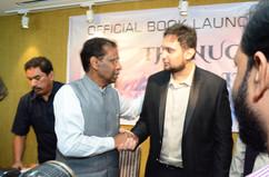 Janab A.K.Khan Sahab with author Saif