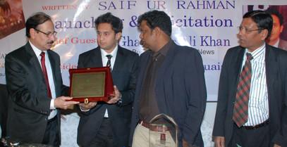 Awarded memento by International Indian Public School, Riyadh