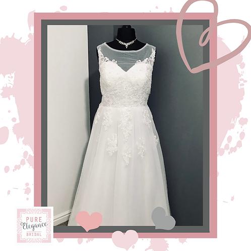 Size 22 Illusion Neckline Wedding Dress