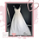 Thumbnail: Size 20 Ivory Illusion Neckline Wedding Dress